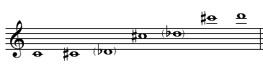 left E-flat (E-flat 4 and E-flat5)