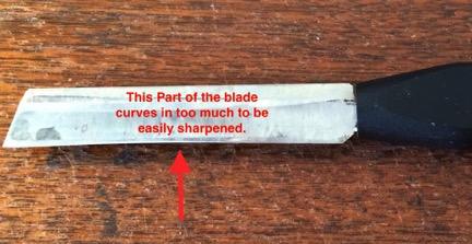 uneven blade